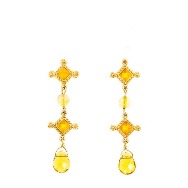 Venice Dou Earring In Yellow Citrine