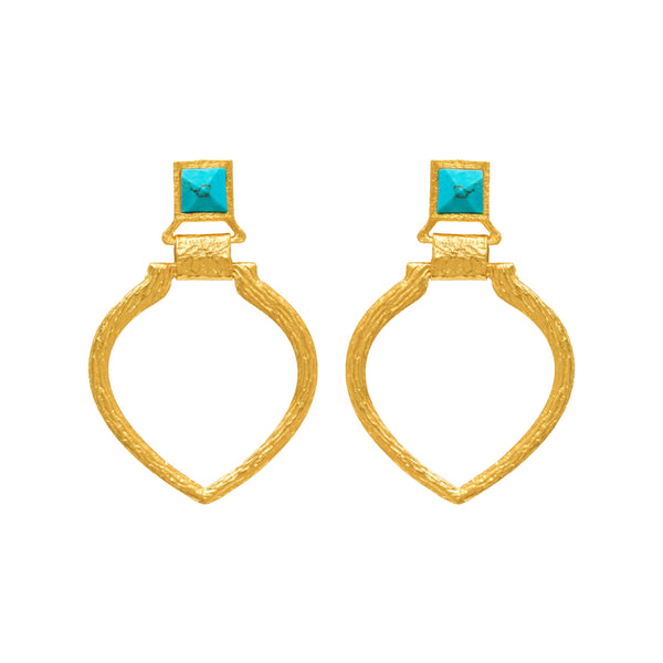 Tier Earring In Turquoise Pyramid