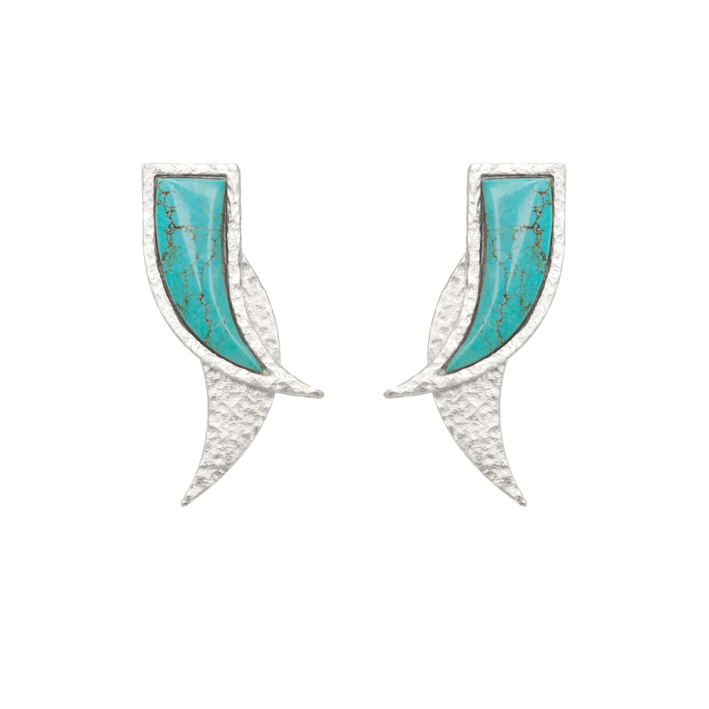 Mammoth Silver Earring In Turquoise