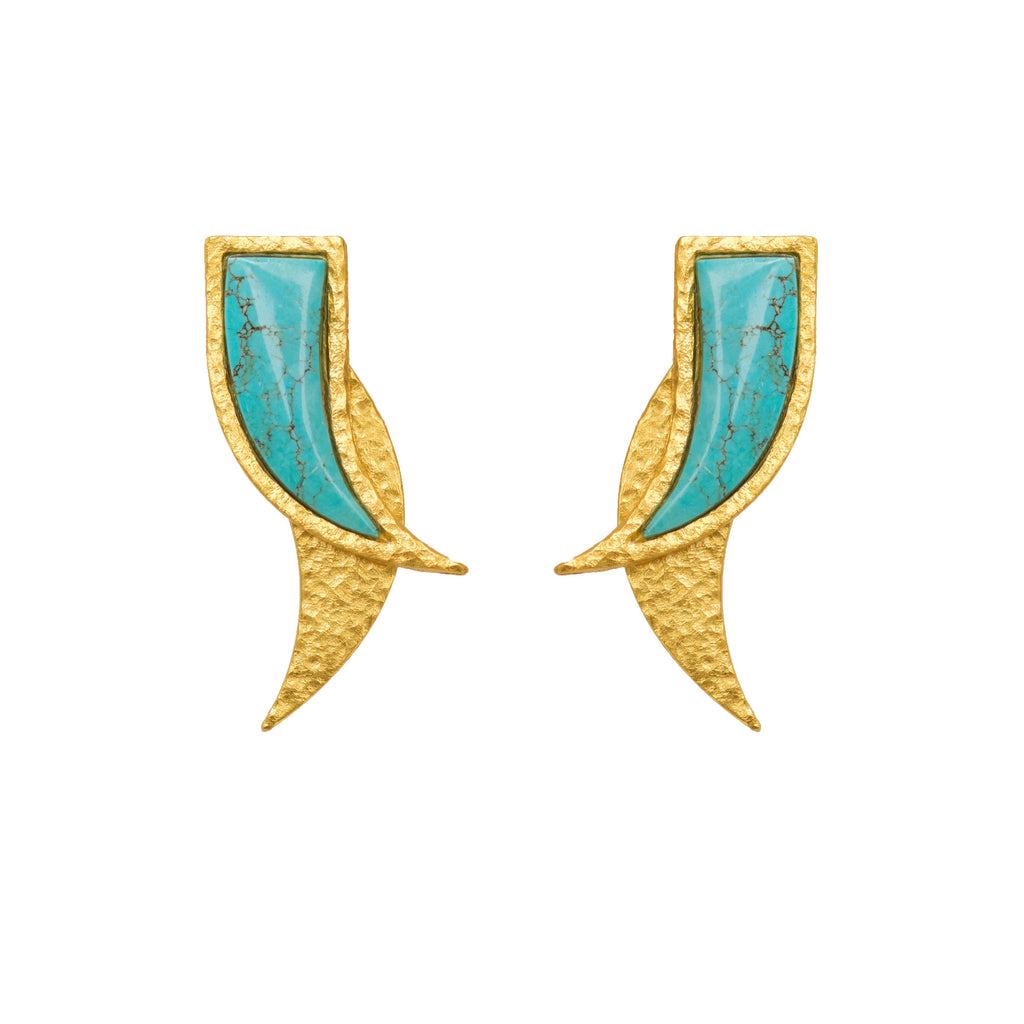 Mammoth Earring In Turquoise