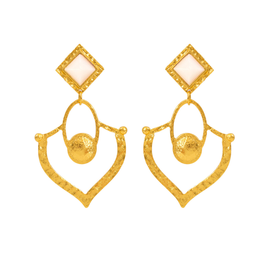 Brigade Earring In Mother of Pearl