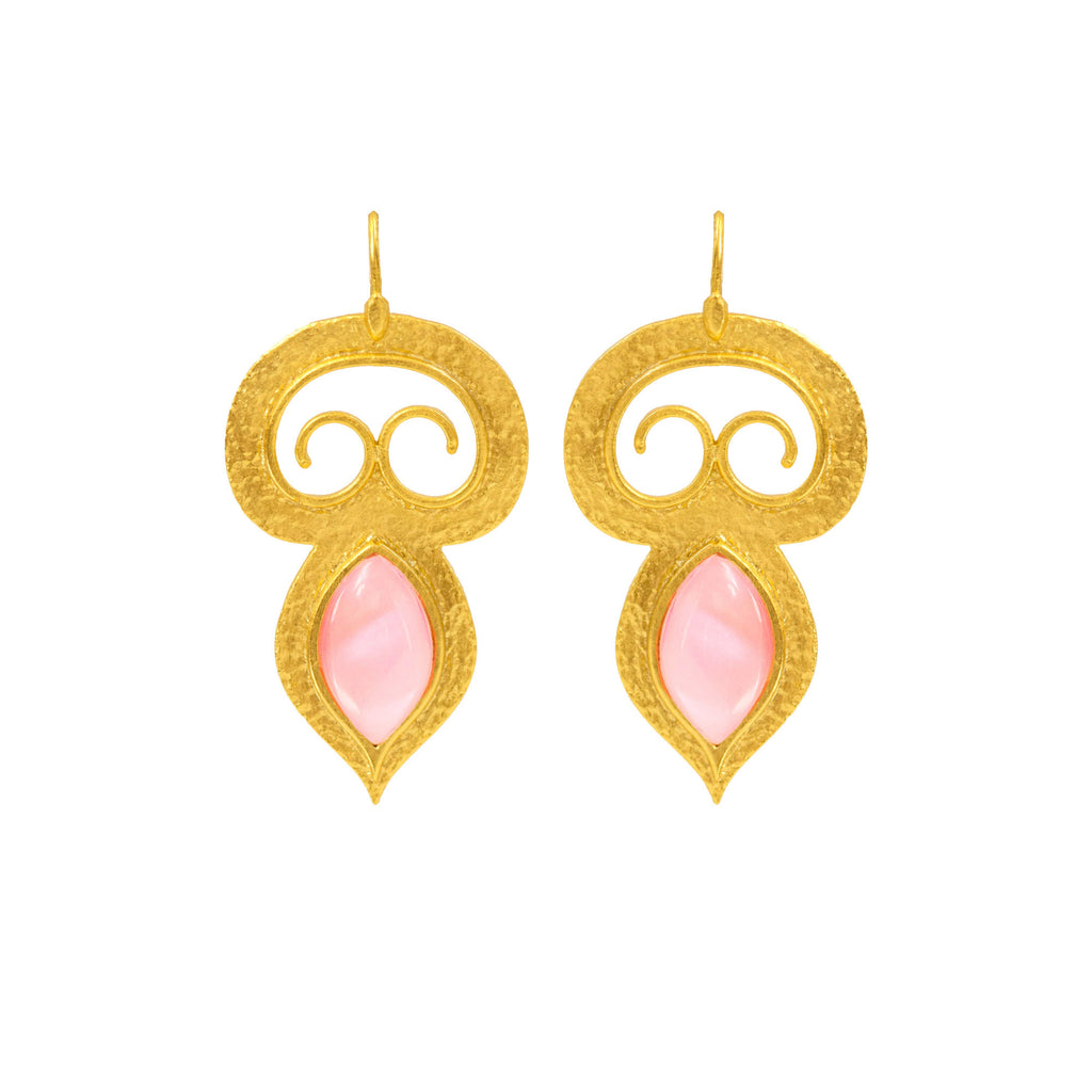 Interlace Earring In Pink Shell
