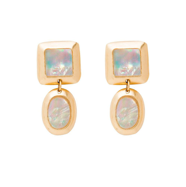 CRUSH SQUARE DOUBLE EARRING
