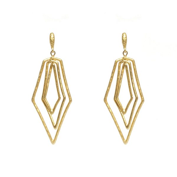 Paris Triple Diamond Earring