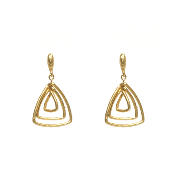 Paris Triple Triangle Earring