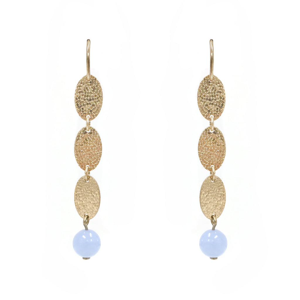 Flow in Blue Chalcedony Stone Earring