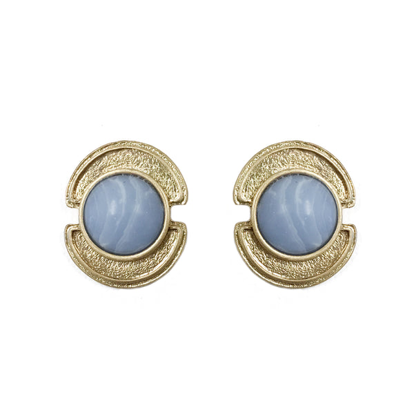 Sheath in Blue Chalcedony Stone Earring