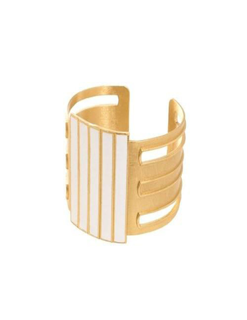 COLOR BLOCKED ENAMEL CUFF