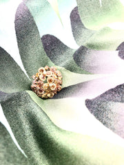 Flower Cluster 18K White Gold Ring
