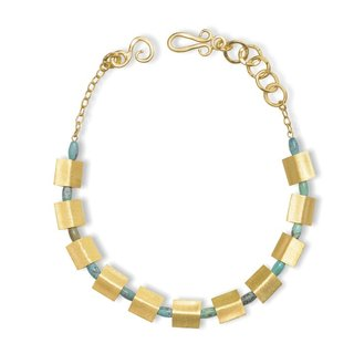 Sequence NE Gold, Blue Turquoise Howlite
