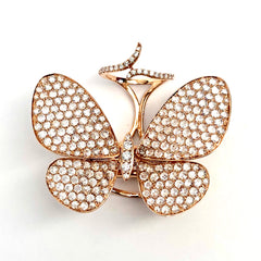 Celebration 18K Rose Gold Butterfly Ring