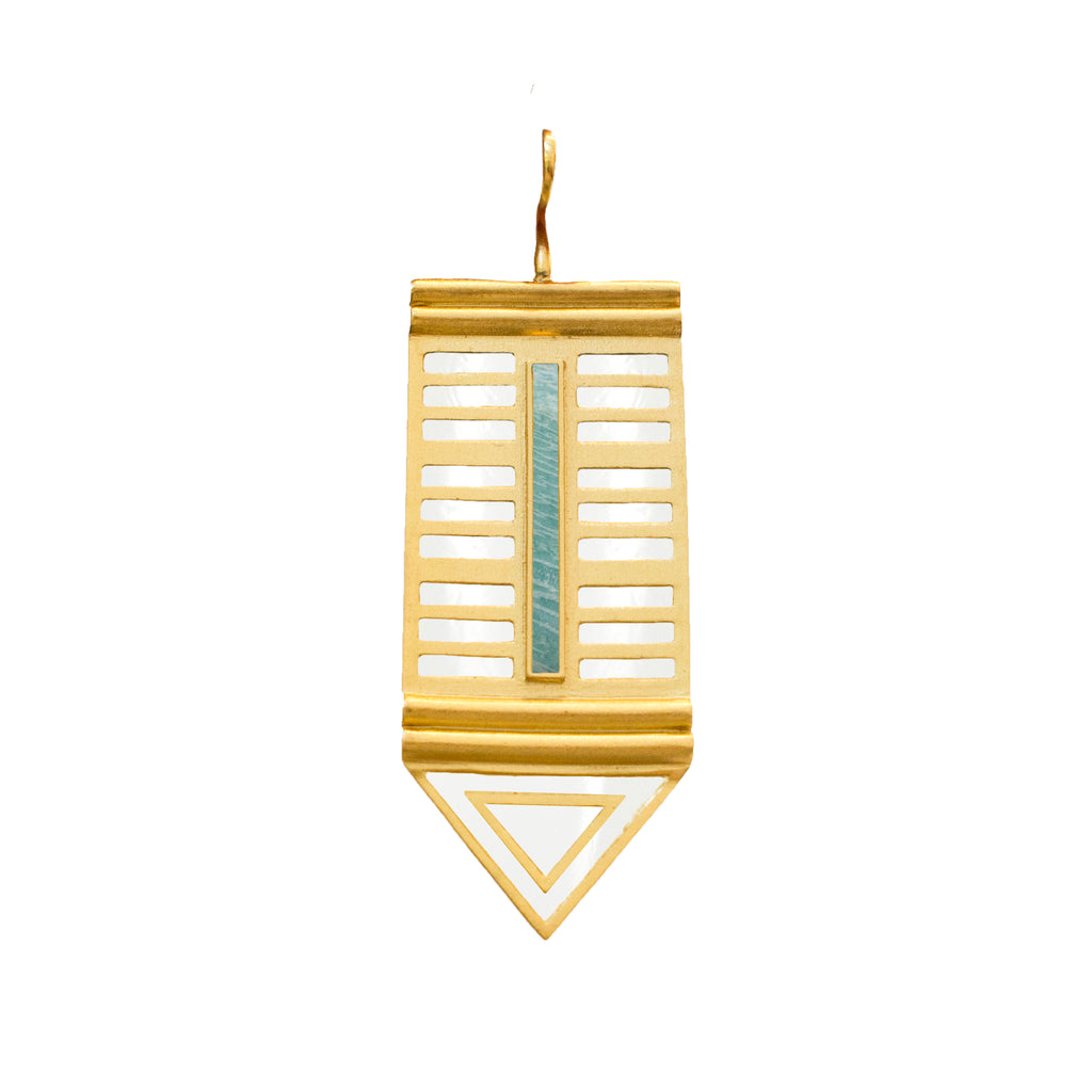 Prisma PE Gold, Blue Amazonite F White Enamel