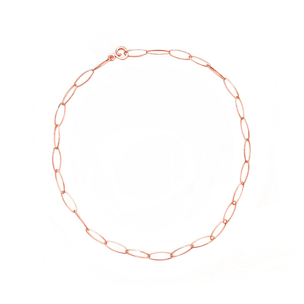 Lace 18K Rose Gold Necklace - 18 in.