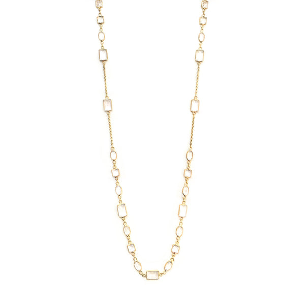 18K Groove Necklace 18K Yellow Gold
