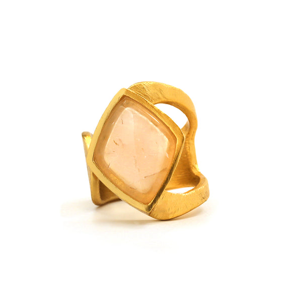 Ring - Luxe - Faceted Rose Quartz