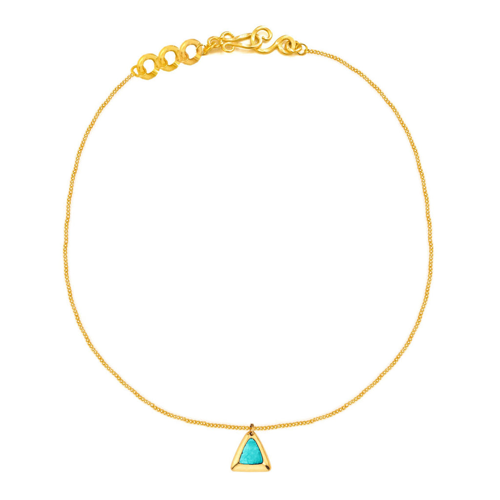 Crush Triangle Necklace In Turquoise