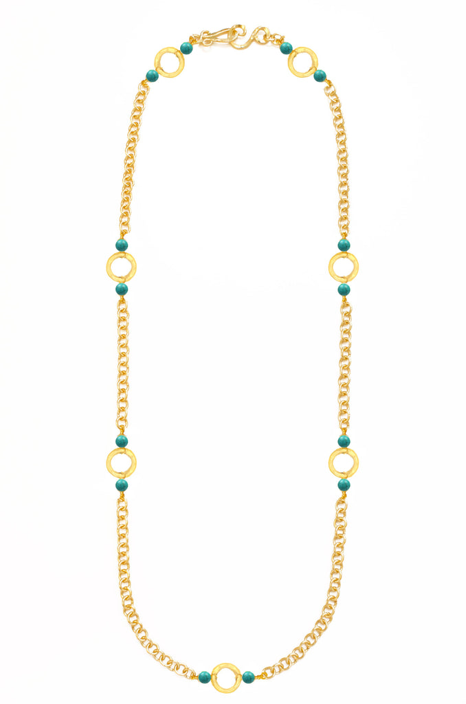 Infinity Necklace In Turquoise
