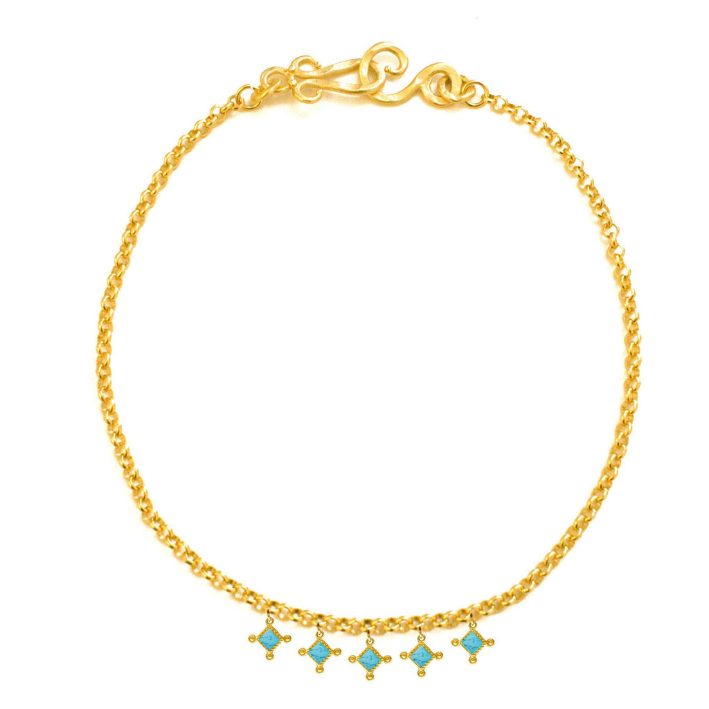 Venitian Chandelier Necklace In Turquoise