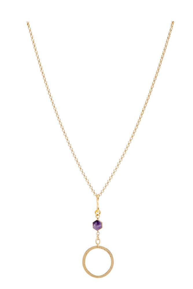 Peace in Amethyst Stone Necklace
