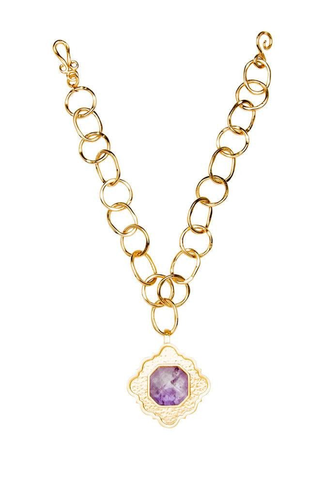 Ventana in Amethyst Stone Necklace