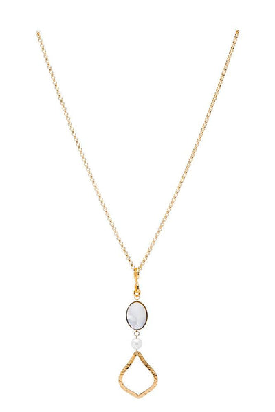 Joy in Mother of Pearl Stone Necklace