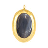 Crush Pendant, Blue Agate Oval C