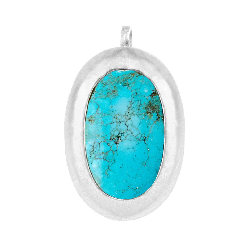 Crush Silver Pendant In Turquoise