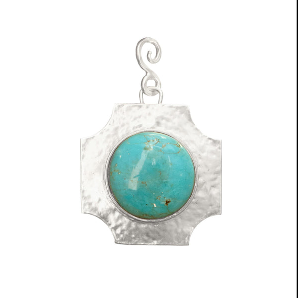 Russet Silver Pendant In Turquoise