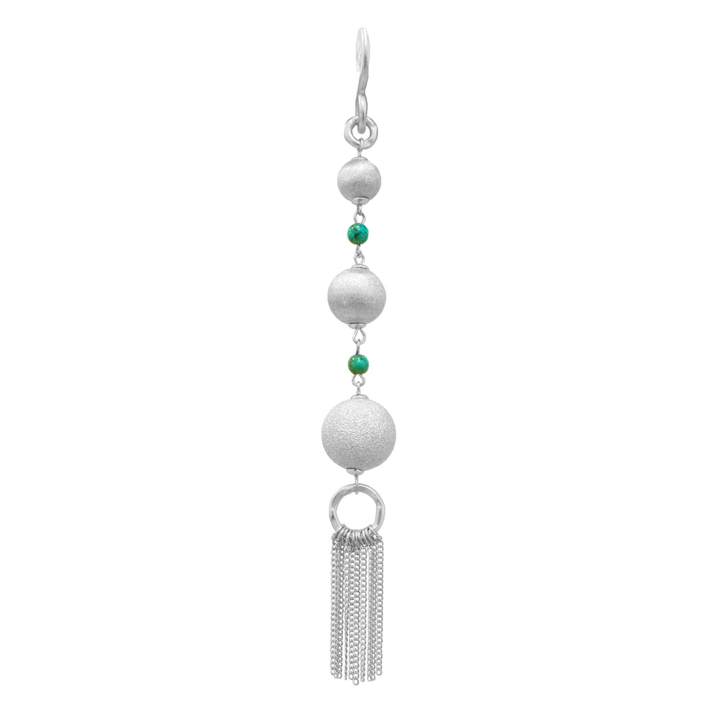 Orbit Silver Pendant In Turquoise Beads