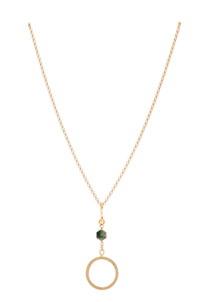 Peace in Green Agate Stone Necklace