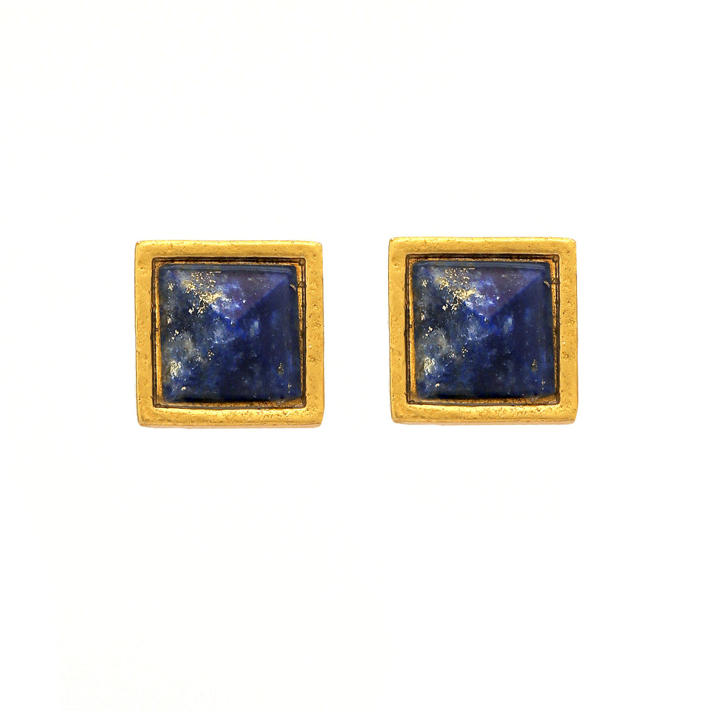 Earring - Treasure Single - Faceted Blue Lapis