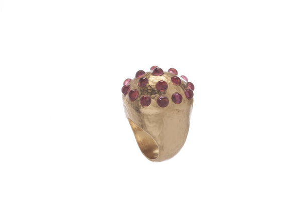 Empress Round Ring in Pink Tourmaline