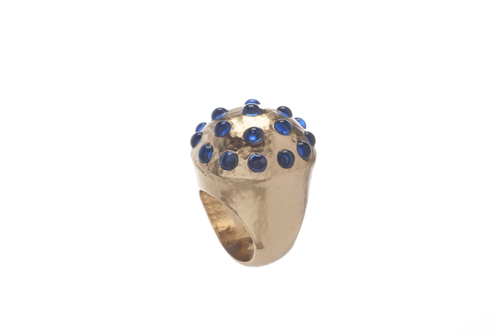 Empress Round Ring in Blue Quartz