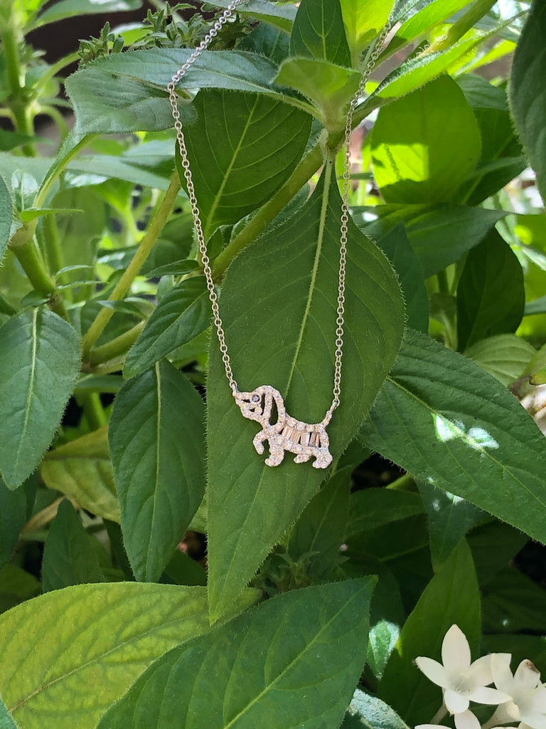 Miracle Dog 18K White Gold Necklace