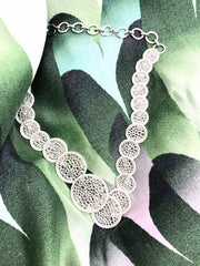 Elliptic 18K White Gold Necklace