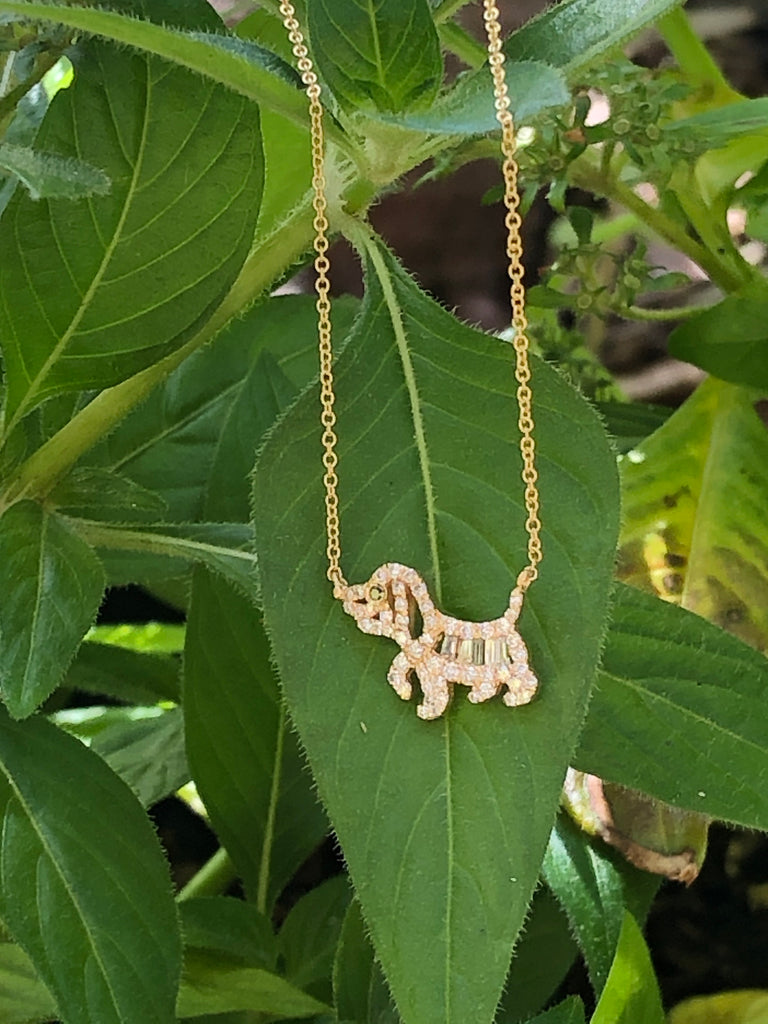Miracle Dog 18K Yellow Gold Necklace