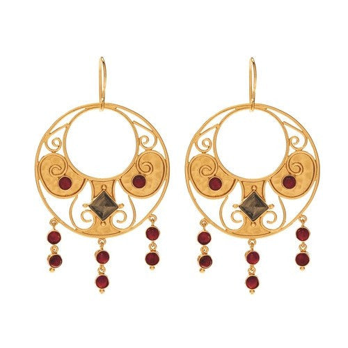ANTIQUITY CASCADING ROUND EARRING