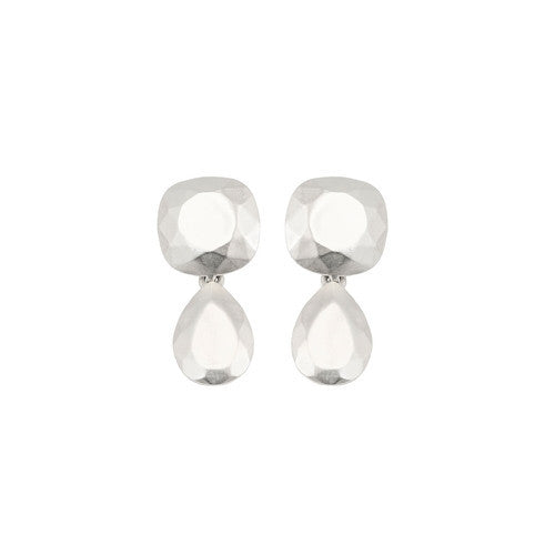 CHISEL DOUBLE EARRINGS