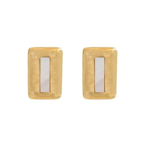 CRUSH RECTANGLE EARRINGS