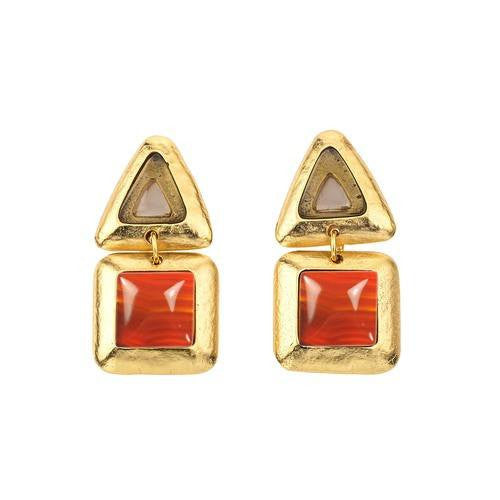 CRUSH TRIANGLE DOUBLE EARRING