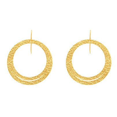 PARIS DOUBLE EARRINGS - MEDIUM / LARGE ROUND