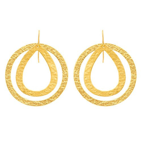 PARIS DOUBLE EARRINGS - SMALL DROP / LARGE ROUND