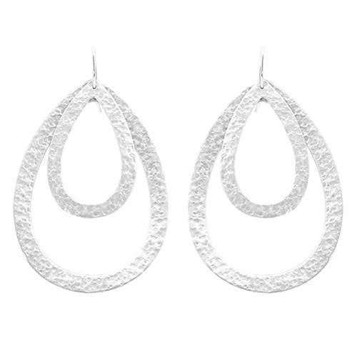 PARIS DOUBLE DROP EARRINGS - SMALL / LARGE DROP