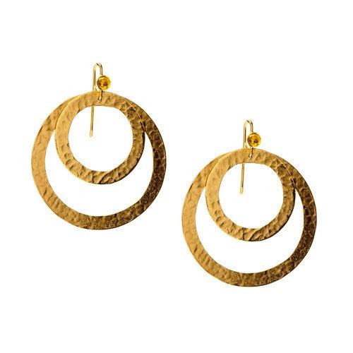 PARIS DOUBLE ROUND EARRINGS