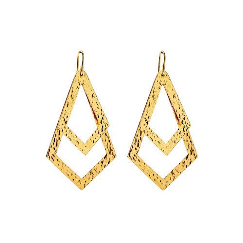 PARIS DOUBLE TRIANGLE EARRINGS