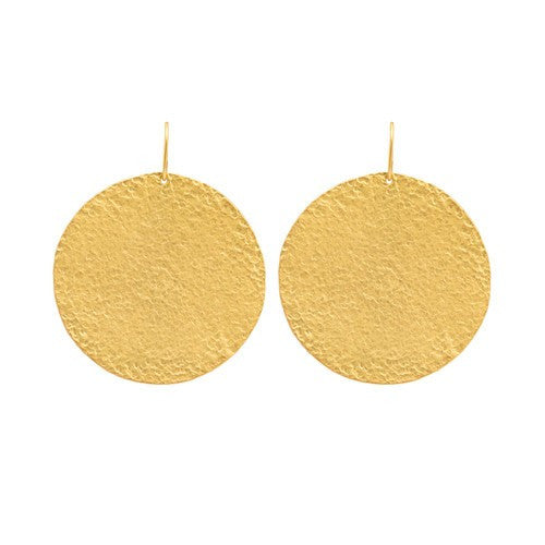 PARIS SINGLE ROUND SOLID EARRINGS - LARGE