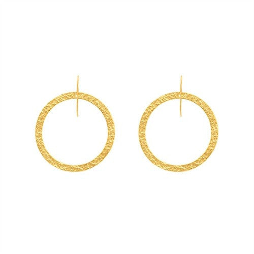 PARIS SINGLE ROUND EARRINGS - MEDIUM