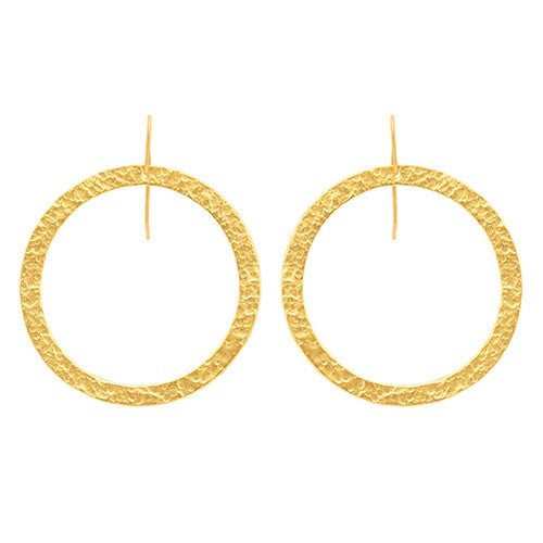 PARIS SINGLE ROUND EARRINGS - LARGE