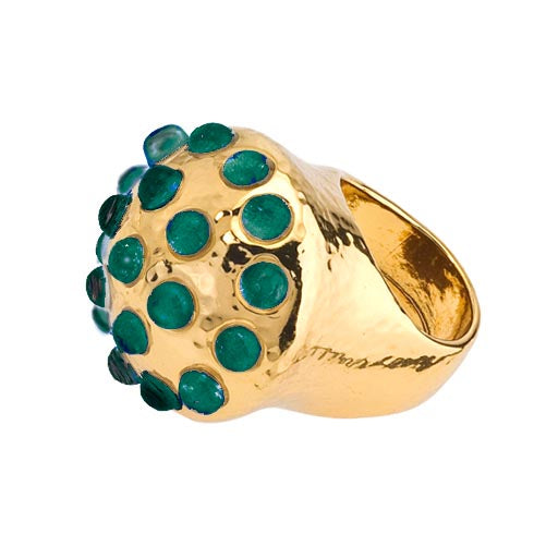Ring - Empress - Round - Multi-Stone - Malachite