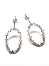 Open 18K White Gold Earring